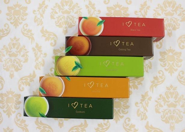 【写真を見る】バラエティに富んだ5種類の茶葉と、チョコレートとの相性を楽しめる