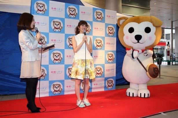 「2nd Anniversary Event 東横ハチ公 ファッションショ  ー!」に、「CanCam」(小学館)専属モデルの堀田茜が登場