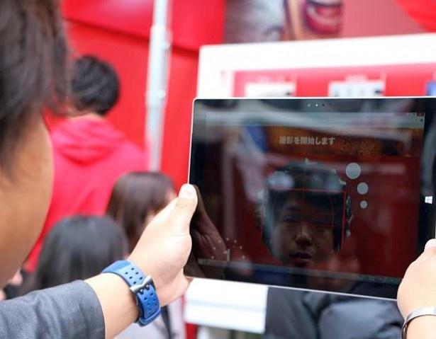 会場では、iPadを使ったスタンプ作りも実施