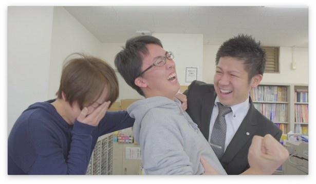 明光義塾の合格ドキュメンタリームービー「ありがとう」のワンシーン