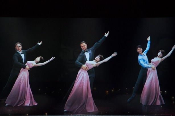 3Dホログラムシアターの映像内でブラッド・ピット、レオナルド・ディカプリオ、羽生結弦らとダンスを踊れる
