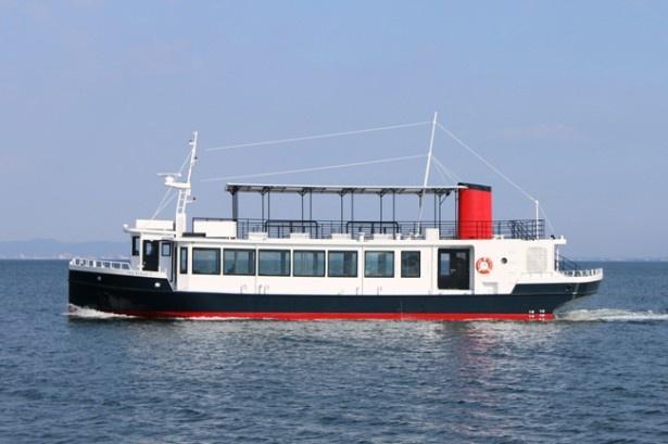 全長26.2m、全幅7m、総トン数77tの新造船「シーフレンド7」の定員は250名