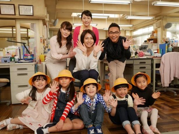 4月14日(木)スタートのドラマ「早子先生、結婚するって本当ですか?」の制作発表が行われ、松下奈緒、貫地谷しほり、八嶋智人、松坂慶子が登場した