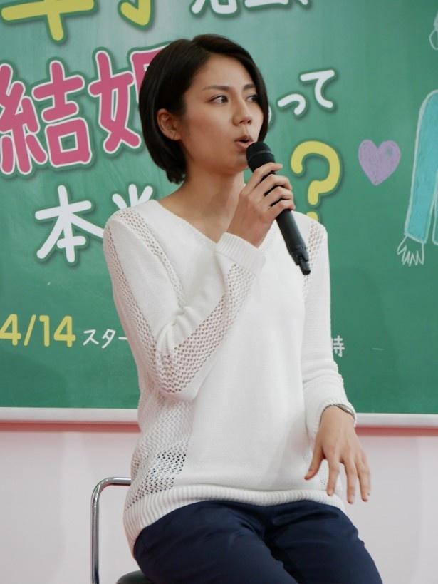 【写真を見る】三枚目な体育会系教師役の松下奈緒は「最初に監督から普段通りやってくれと言われまして。何回かお会いして、見抜かれてたんだろうなと思いました」