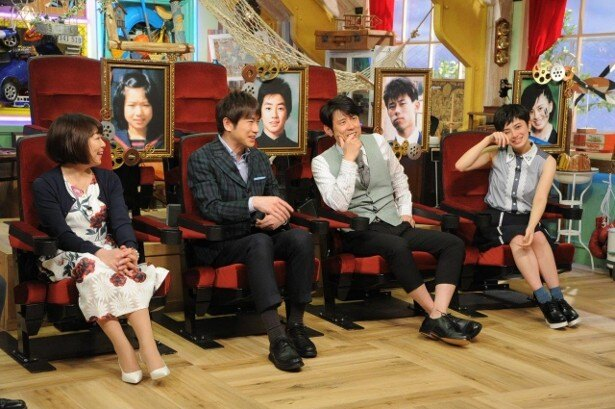 同級生の思いに感動する堀ちえみ、羽鳥慎一、原田泰造、ホラン千秋(写真左から)
