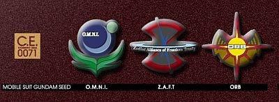 地球連合軍 、Z.A.F.T、オーブ (「機動戦士ガンダムSEED」)