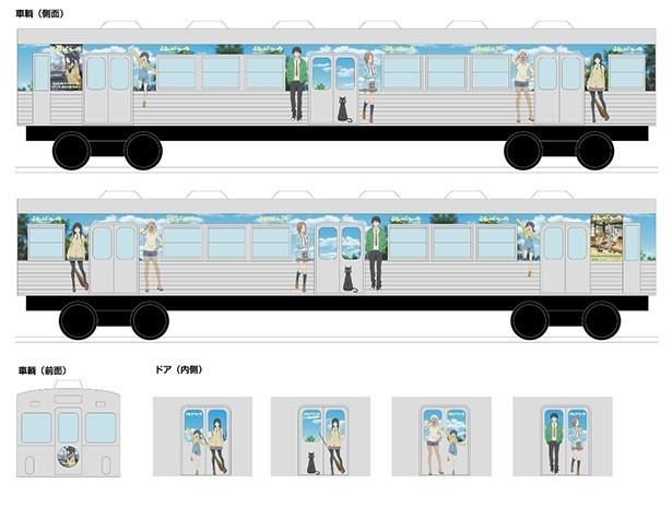 「ふらいんぐうぃっち」弘前コラボ第4弾決定! バスと電車でオリジナルアナウンスが