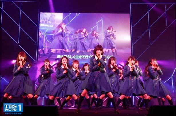 欅坂46の新人離れしたパフォーマンスがテレビで見られる!