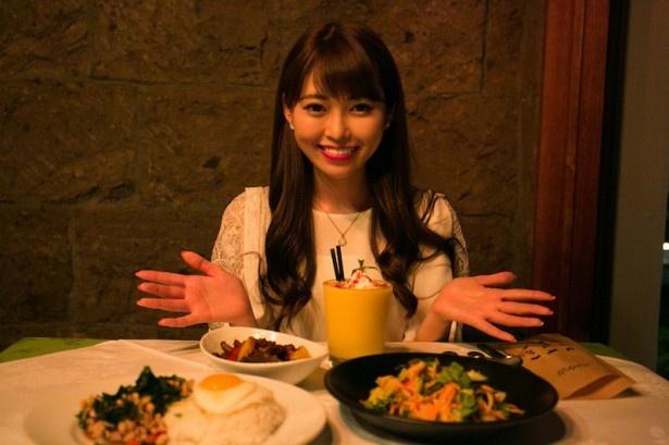 モンスーンカフェ お台場ではタイ料理やベトナム料理をアレンジしたメニューが手頃な価格で味わえる