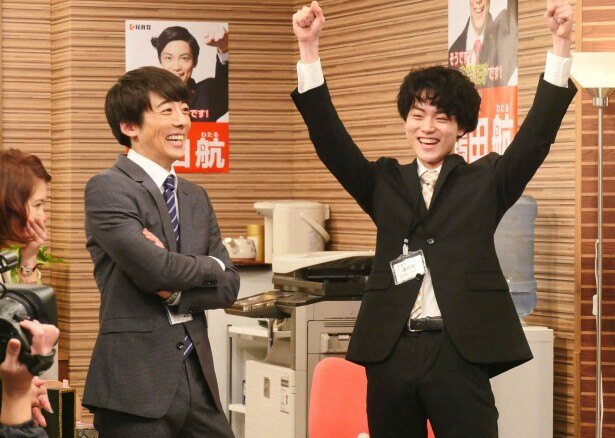 「民王 番外編 秘書貝原と6人の怪しい客」に友情出演する菅田将暉(右)