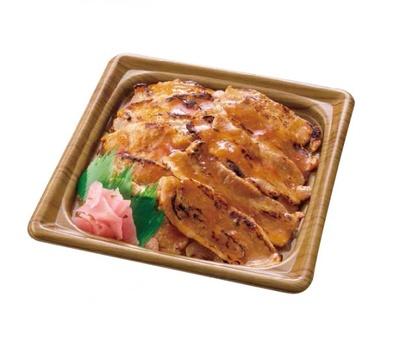 特製ダレで、香ばしくコクのある味に仕上がった「炙り焼 牛カルビ重」(530円)