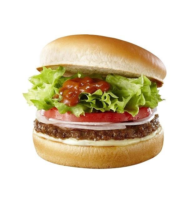 国産生野菜がたっぷり!「ロッテリアカレー野菜ハンバーガー」(360円)