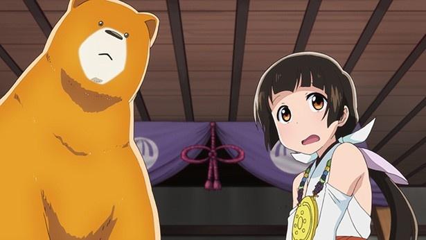 TVアニメ「くまみこ」第4話「村の宝物」先行カットが解禁。新しい巫女衣装で練り歩き!