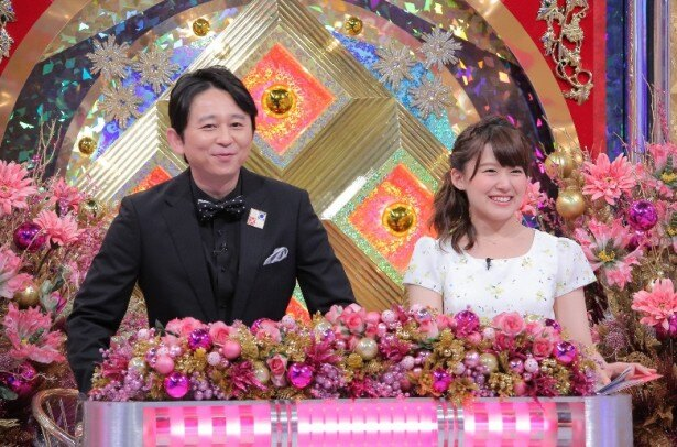 【写真を見る】桝太一アナに「新名コンビ!?」と期待された有吉弘行と尾崎里紗アナ