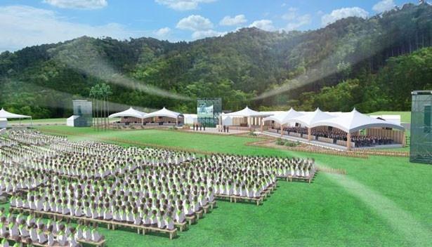 式典参加者は5000人という大規模なイベントとなりそうだ