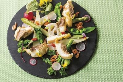 比内地鶏や山口県萩漁港の魚など、目にもおいしい美食の饗宴