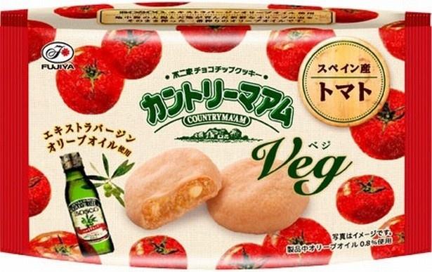 スペイン産のトマトを使った「カントリーマアムVeg(トマト)」(125円)
