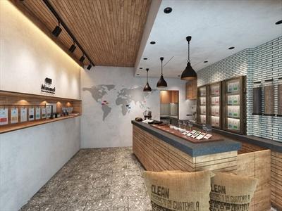 店内中央に設けられたカウンターテーブルで、世界各国のカカオ豆を試食できる