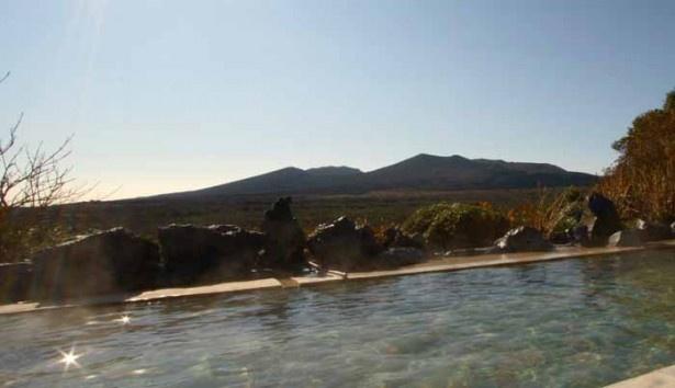 大島温泉ホテルの絶景露天風呂も楽しめる