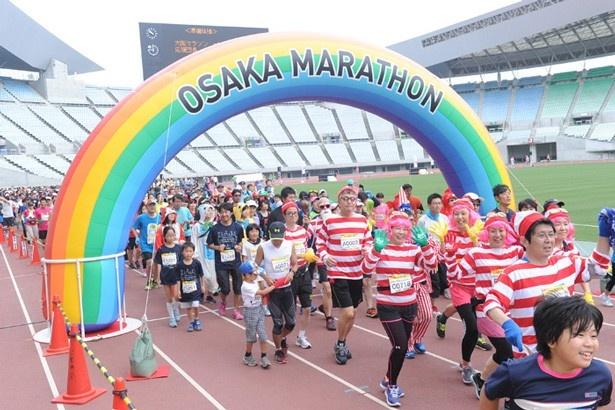 「~ケイ・オプティコムPresents~ 大阪マラソンファンラン2016」は6月19日(日)に開催。※写真は去年の様子
