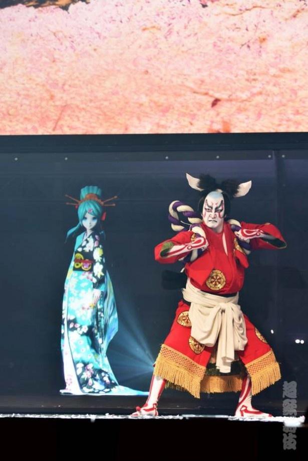 「超歌舞伎 Supported by NTT」で中村獅童と初音ミクが共演!