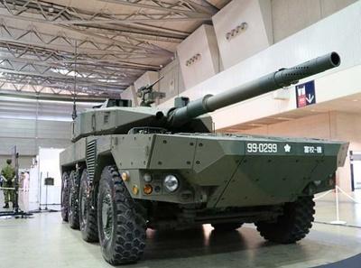自衛隊ブースの機動戦闘車