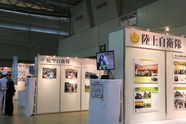 熊本県での活動の様子をパネルにして展示しているコーナーも