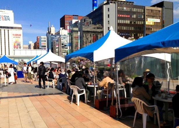 「ザ・プレミアム・モルツ フェスティバル」の会場となる、JR札幌駅の南口広場