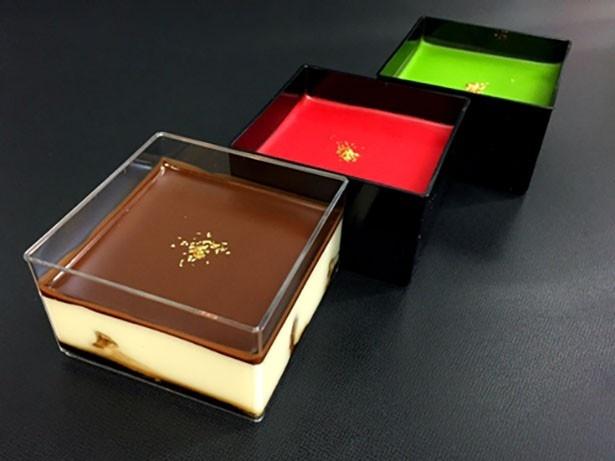 アークイラの「シルキーティラミス」(420円)は、オリジナル、ストロベリー、抹茶の3種類を用意