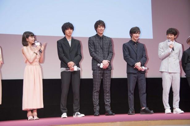 左から二階堂ふみ、山崎賢人、鈴木伸之、横浜流星、吉沢亮