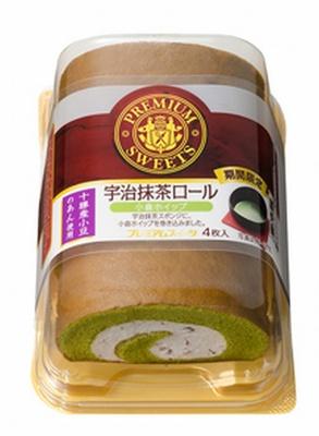 山崎製パンの「PREMIUM SWEETS」シリーズから登場する「宇治抹茶ロール(小倉ホイップ)」(オープン価格)