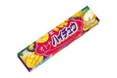 ドライマンゴーの果肉を贅沢に練り込んだ「オトナハイチュウ 味わいマンゴー」(参考小売価格138円)