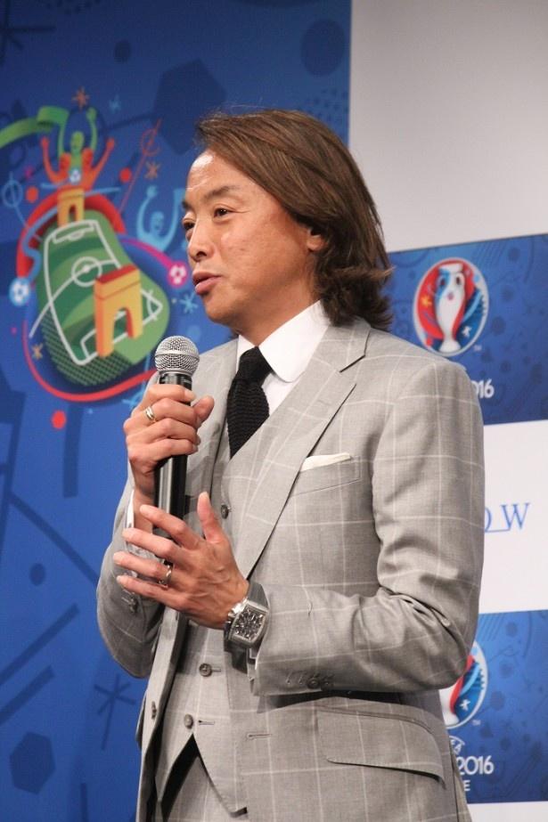 「サッカーという競技を超えて国の歴史やプライドを感じさせる大会」と魅力を語る北澤