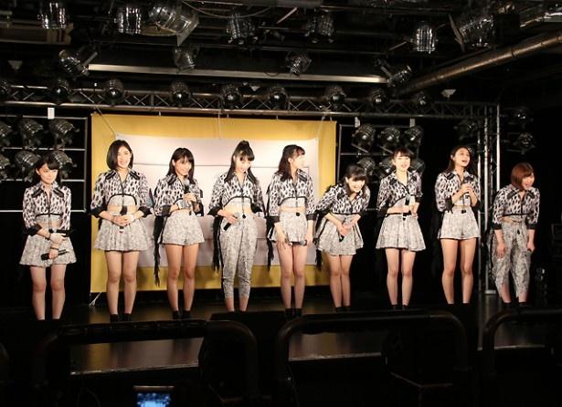 めいめいの卒業ライブは5月30日(月)の日本武道館公演。「お時間ある方はぜひいらしてください」とあいさつした