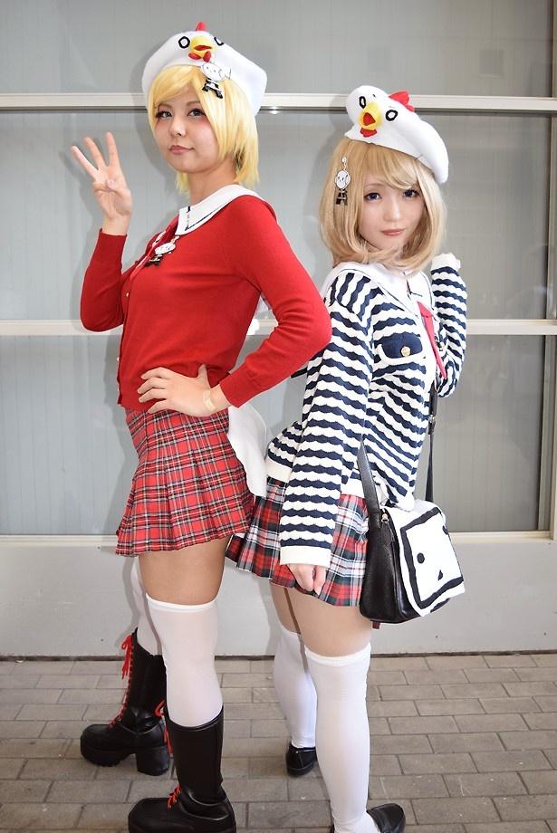 ニワンゴテレビちゃんのイメージ衣装でニコ超に参加したKAKKOさん(写真左)と、もころすさん(写真右)