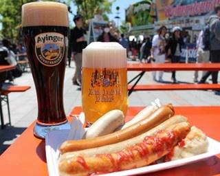 本場のドイツビールとソーセージで至福のひと時を!