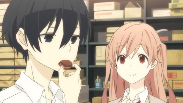 【田中くんはいつもけだるげ】お菓子を食べる田中くん