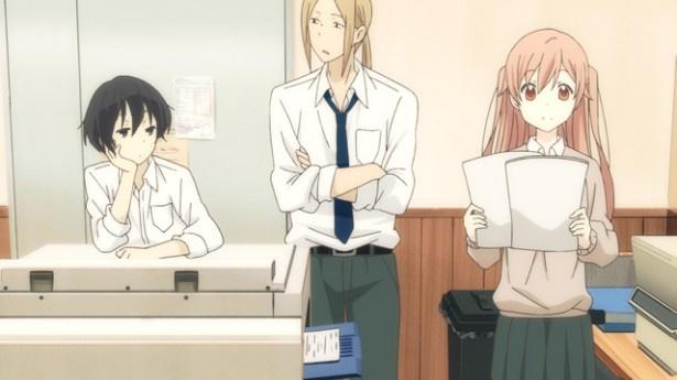 「田中くんはいつもけだるげ」第4話先行カットを公開。憧れの委員長の秘密とは?