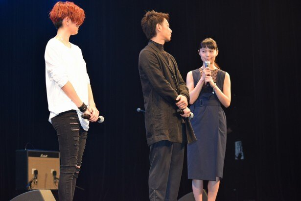 宮崎は、試写会後の観客と話すことがうれしいんだそう