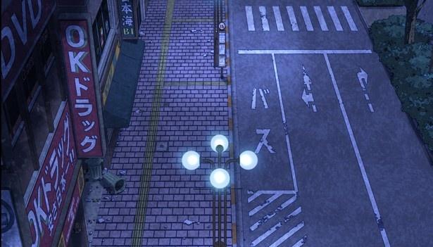 アニメでは、看板の雰囲気といった細かいところまで、実際の「北口大通り」の様子を再現
