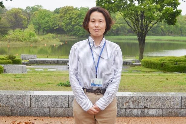 「立川は、高尾山や山梨とも近く、ホテルなどの施設も整っているので、観光の拠点としてもピッタリです」と話す、「国営昭和記念公園」広報リーダーの浅田増美さん