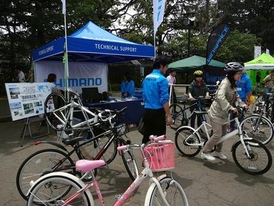 高級自転車などの試乗会も開催