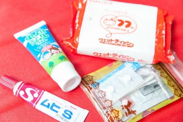 綾乃さんのバッグのなかにはいざというときの常備薬などが満載/谷本さん一家