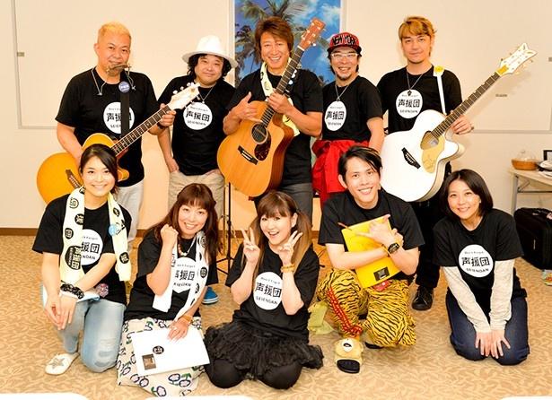 東日本大震災の復興を応援する声援団が、今度は熊本・大分地震の復興支援のために集結