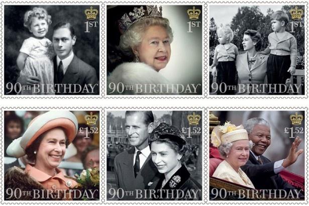【写真を見る】先日にはエリザベス女王90歳の誕生日を記念した切手が発行された
