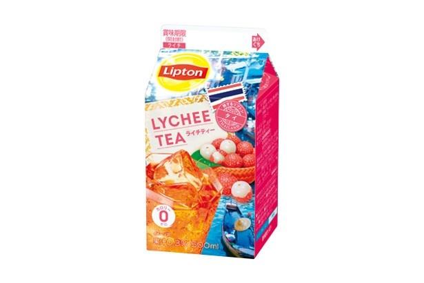 【写真を見る】常夏の国タイで親しまれているライチ果汁を加えた「リプトン ライチティー」(希望小売価格・税抜100円)