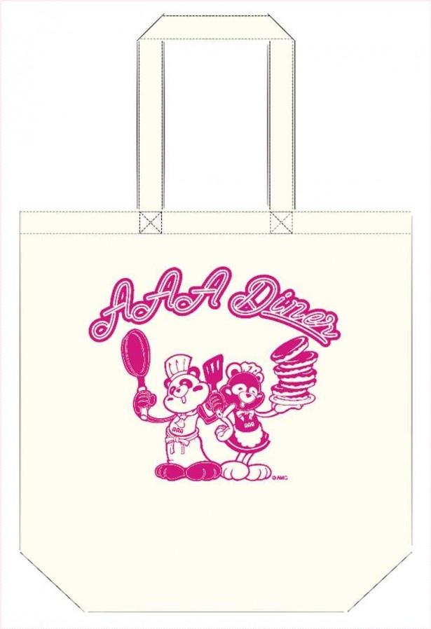 え~パンダがデザインされたかわいらしい「トートバッグ」(税抜500円)。ほかにもAAA Diner限定グッズが多数登場