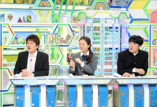 「林修の今でしょ!講座」で授業を受ける林修、中越典子、劇団ひとり(写真左から)