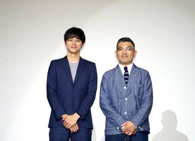 映画「ヒーローマニア-生活-」(5月7日公開)主演の東出昌大と監督の豊島圭介