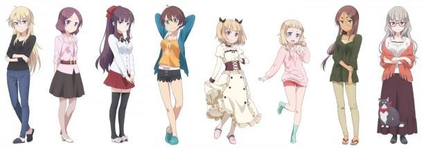 夏アニメ「NEW GAME!」の主題歌を歌うユニット名はfourfolium!追加キャラビジュアルも公開
